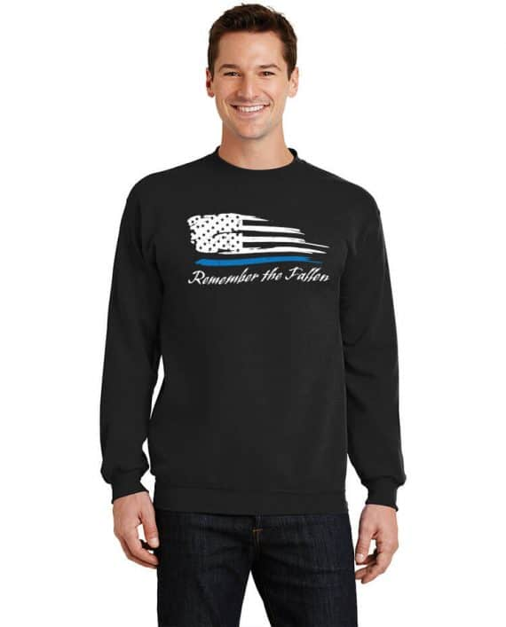 Remember the Fallen - Crewneck PC78 Black - Model Front
