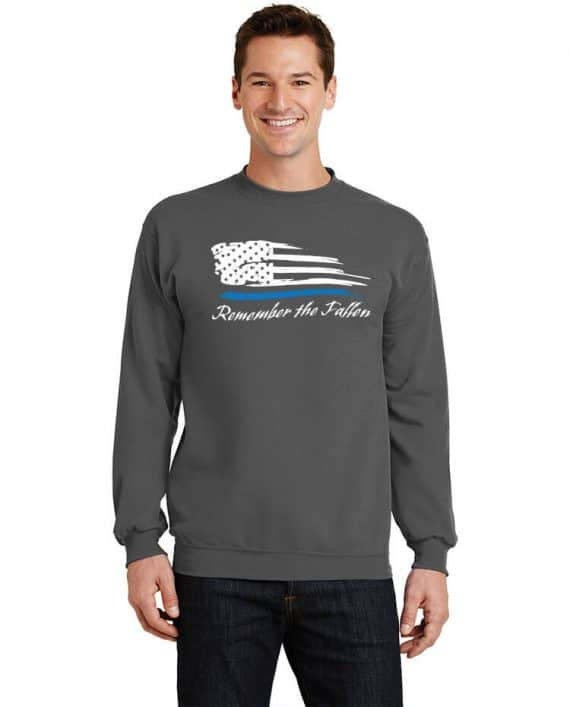 Remember the Fallen - Crewneck PC78 Charcoal - Model Front