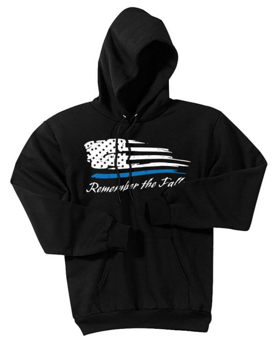 Remember the Fallen - Hoodie PC78H Black - Front