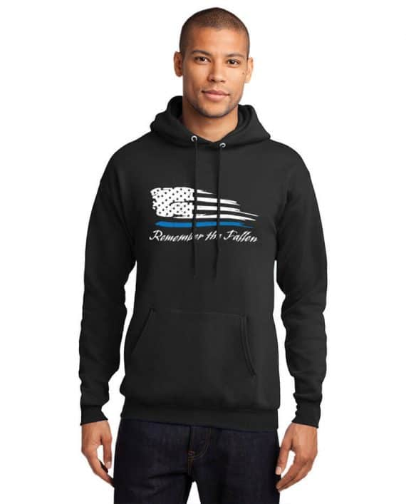 Remember the Fallen - Hoodie PC78H Black - Model Front