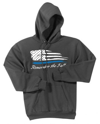 Remember the Fallen - Hoodie PC78H Charcoal - Front