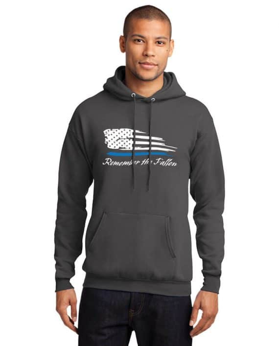 Remember the Fallen - Hoodie PC78H Charcoal - Model Front