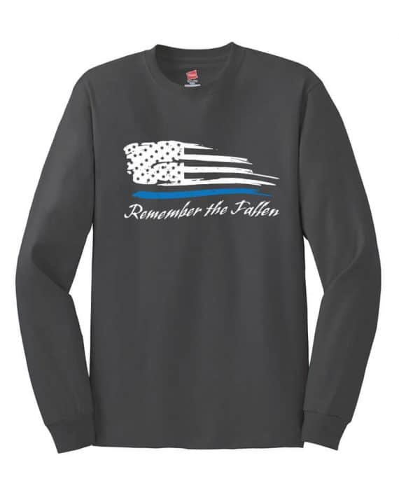 Remember the Fallen - Long Sleeve shirt 5586 Charcoal - Front