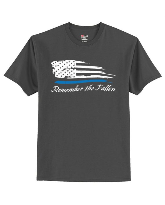 Remember the Fallen - T-shirt 5250 Charcoal - Front